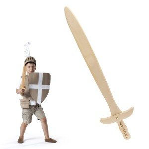 Houten zwaard met naam