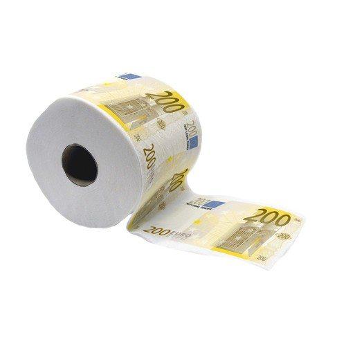200 Eurobiljetten toiletpapier