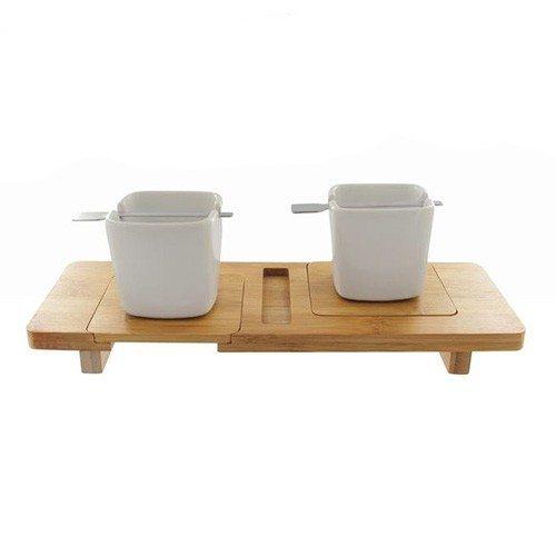 5-delige bamboe espresso set
