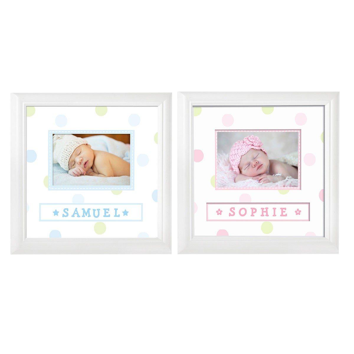 Baby fotolijstje met naamsticker