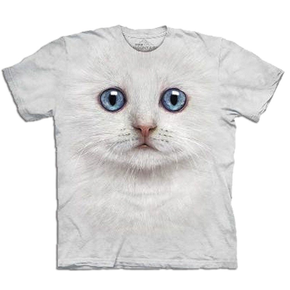 Big Face dieren T-shirts - kat