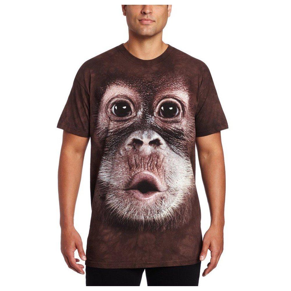 Big Face dieren T-shirts – Orang-oetan baby