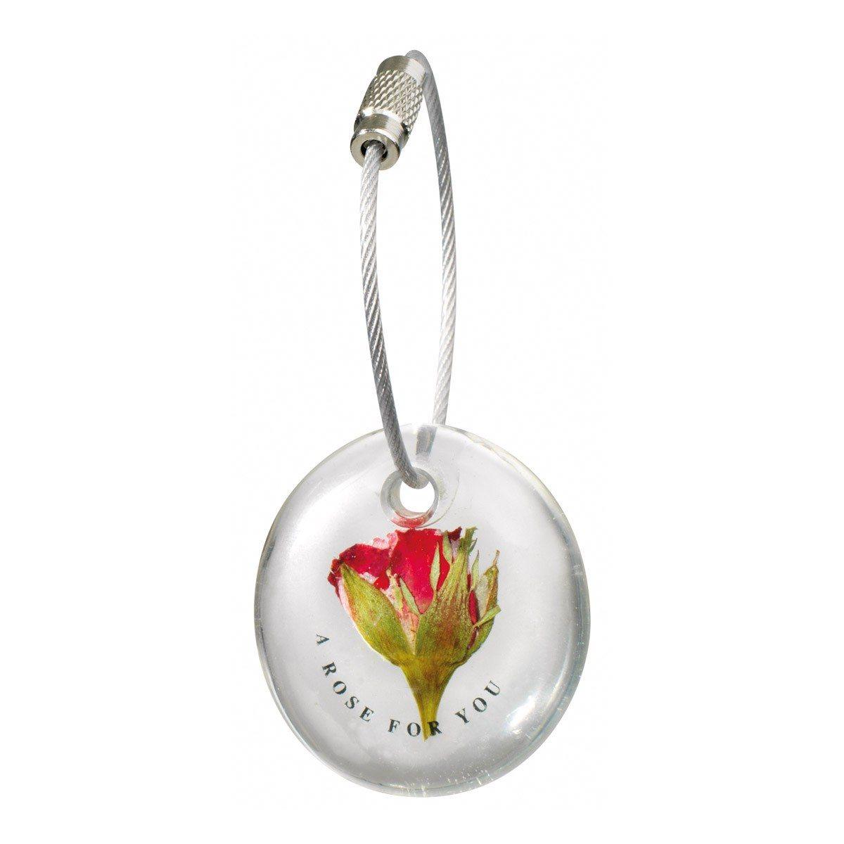 Bloemensleutelhanger - een roos voor jou