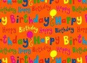 Cadeaupapier ''happy birthday''
