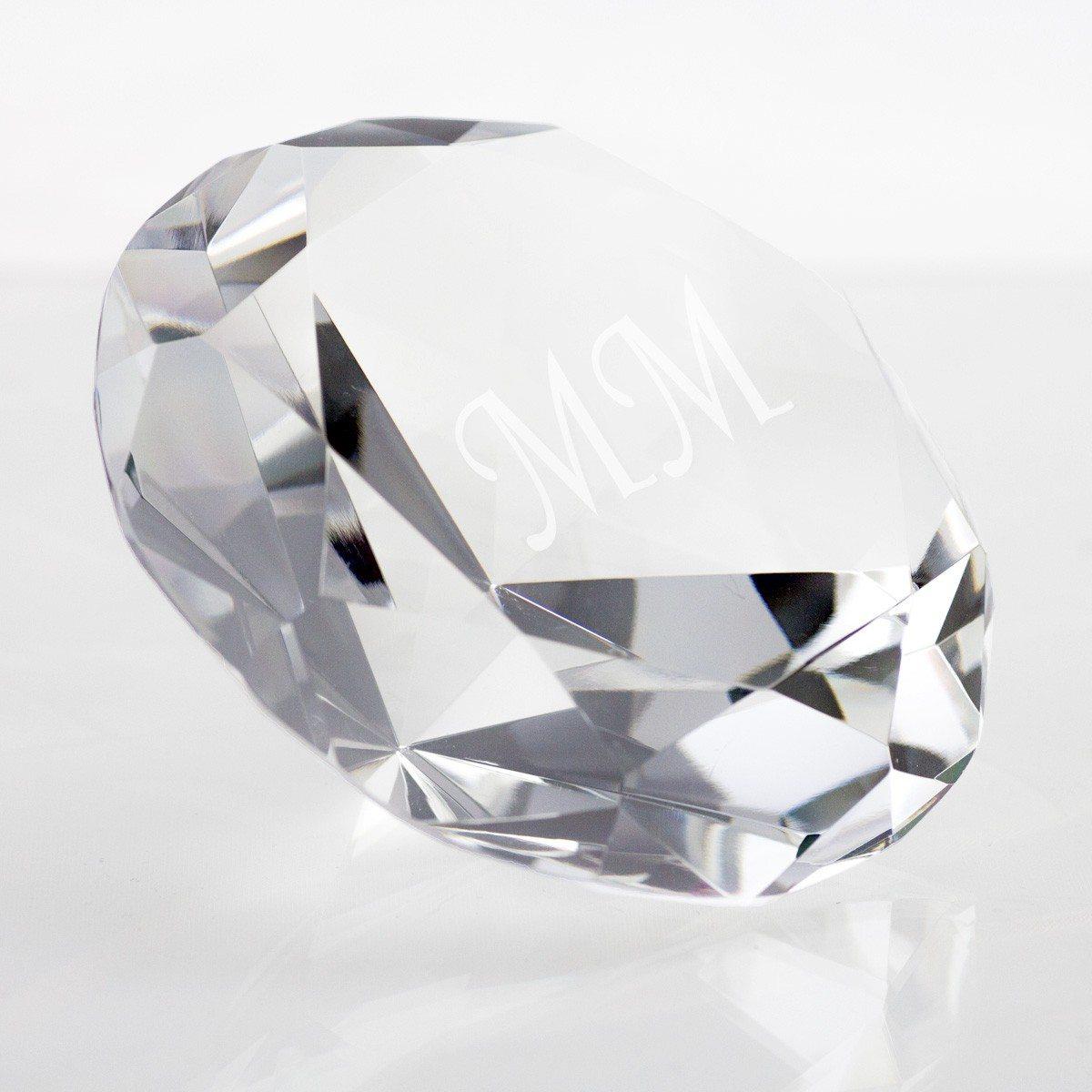 Glazen diamant met gravure