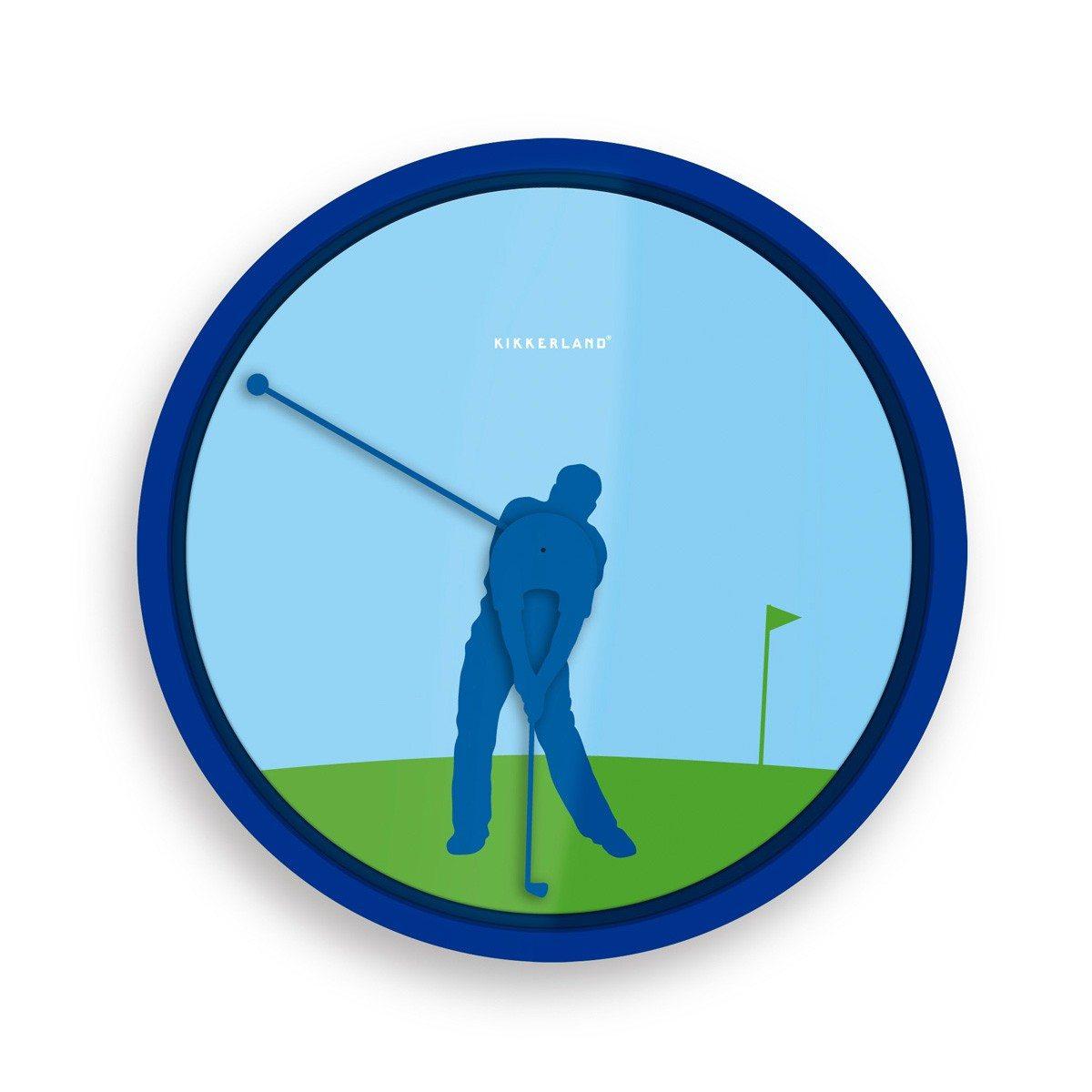 Golfspeler wandklok