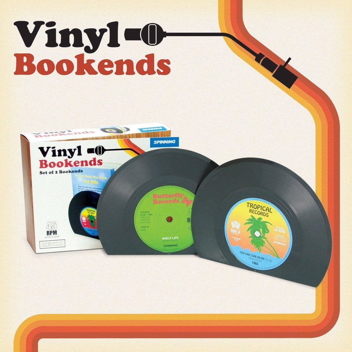 Grammofoonplaat - boekenstandaard