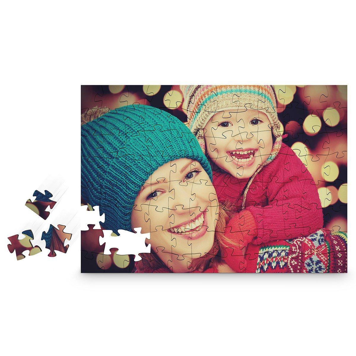 Houten puzzel met persoonlijke foto