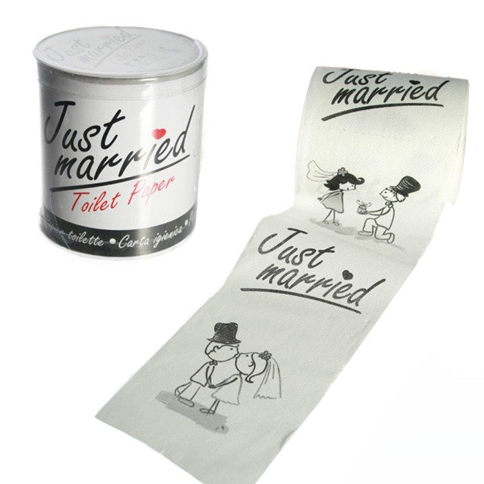 ''Just Married'' toiletpapier