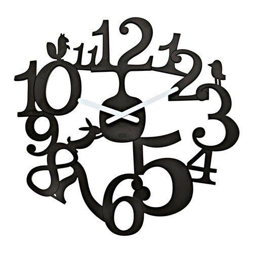 Klok met enkel getallen