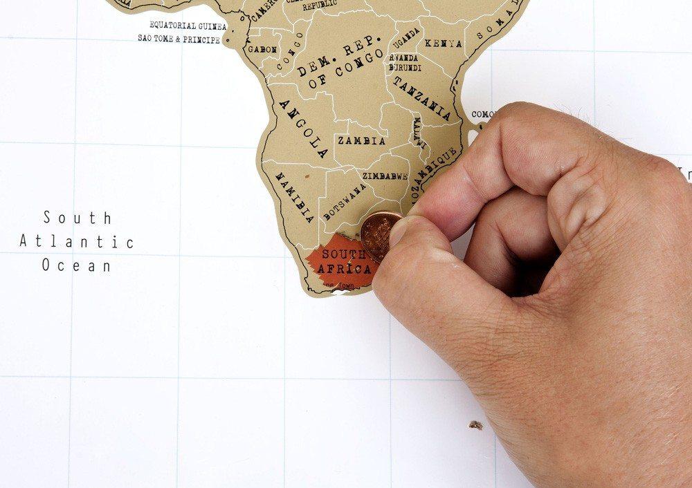 Kras wereldkaart in posterformaat