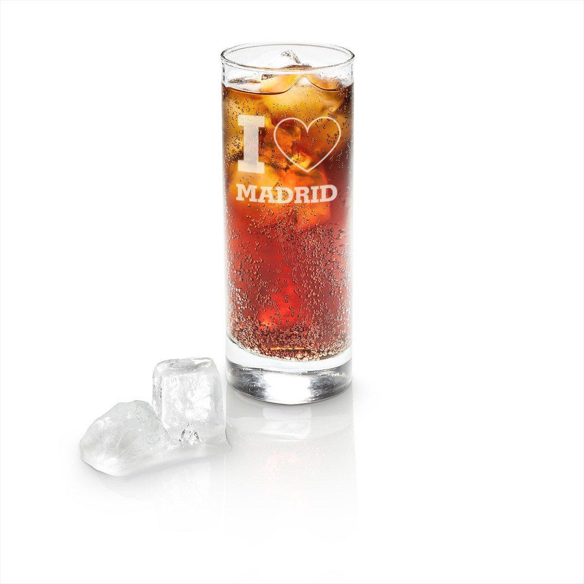 Longdrink Glas mit Gravur - I Love