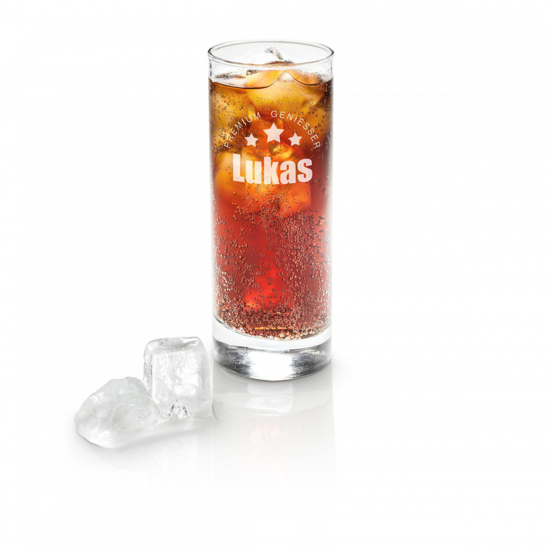 Longdrink Glas mit Gravur - Premium Genießer