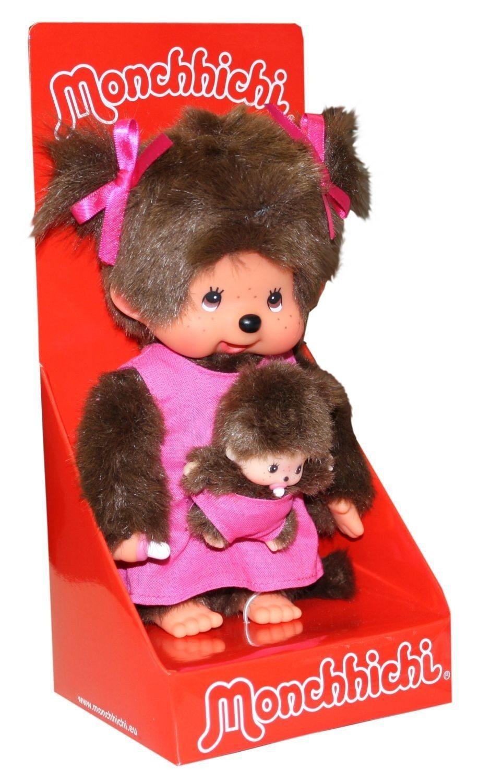 Monchhichi moeder met kind in roze