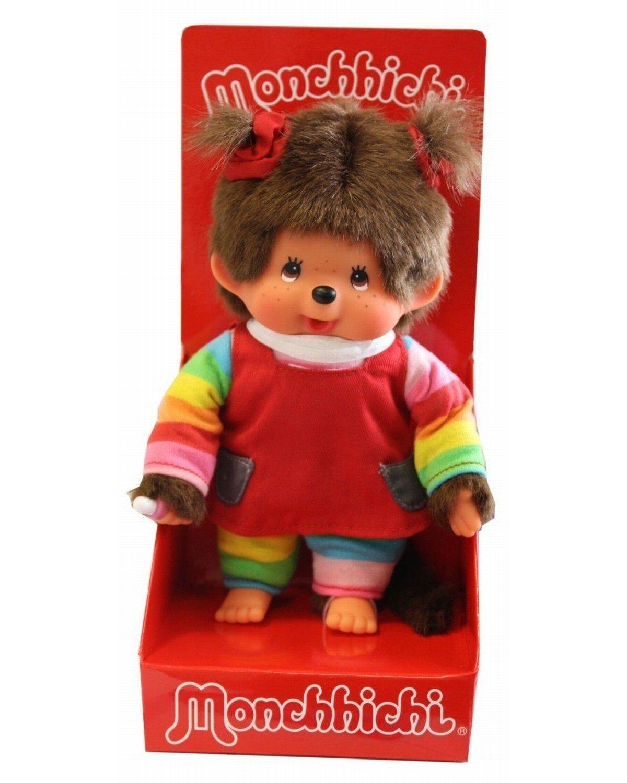 Monchhichi pop met regenboog kleding