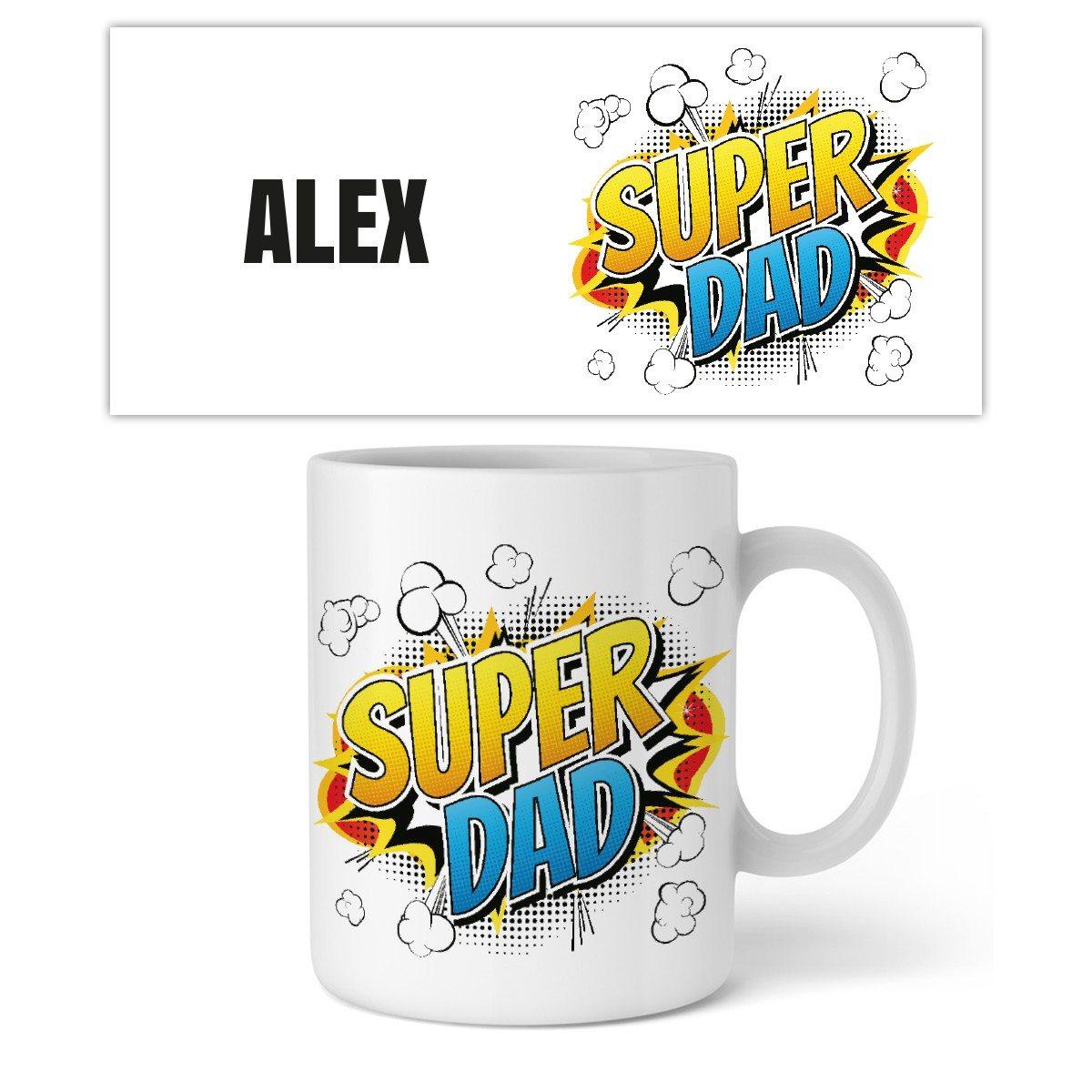 "Personaliseerbare mok ""Super Dad"""