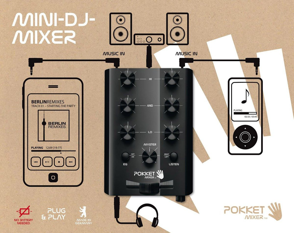 Pocket mixer - mini DJ mixtafel