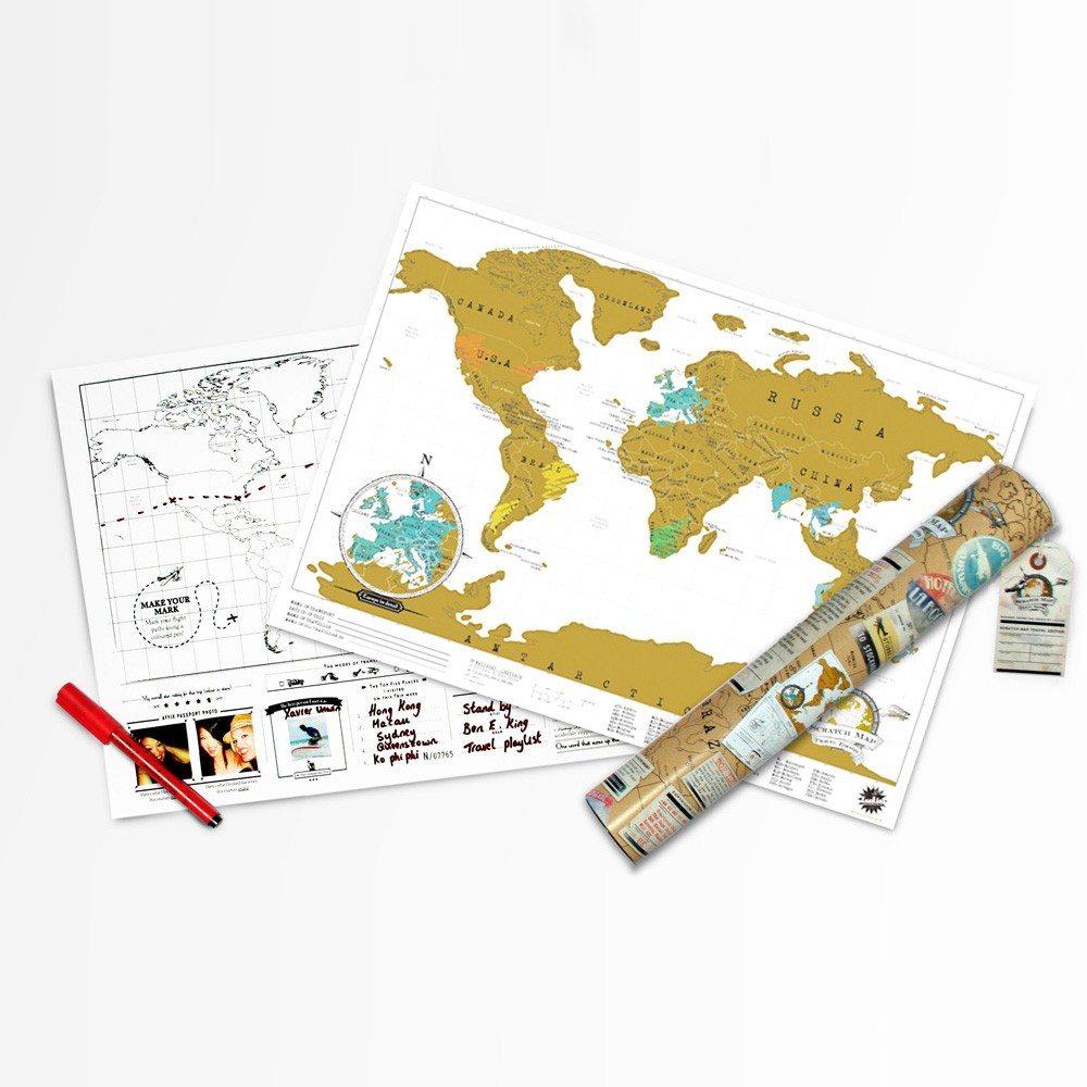 Scratch Map in reisformaat