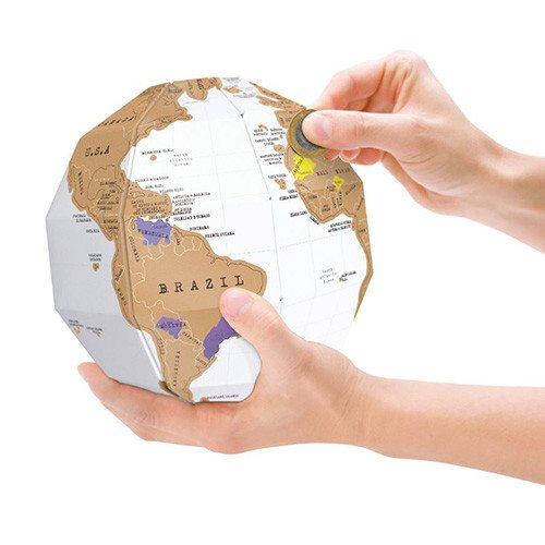 Scratch Map - wereldbol to go