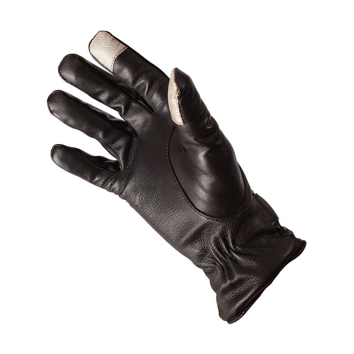 Smartphone leren handschoenen voor mannen