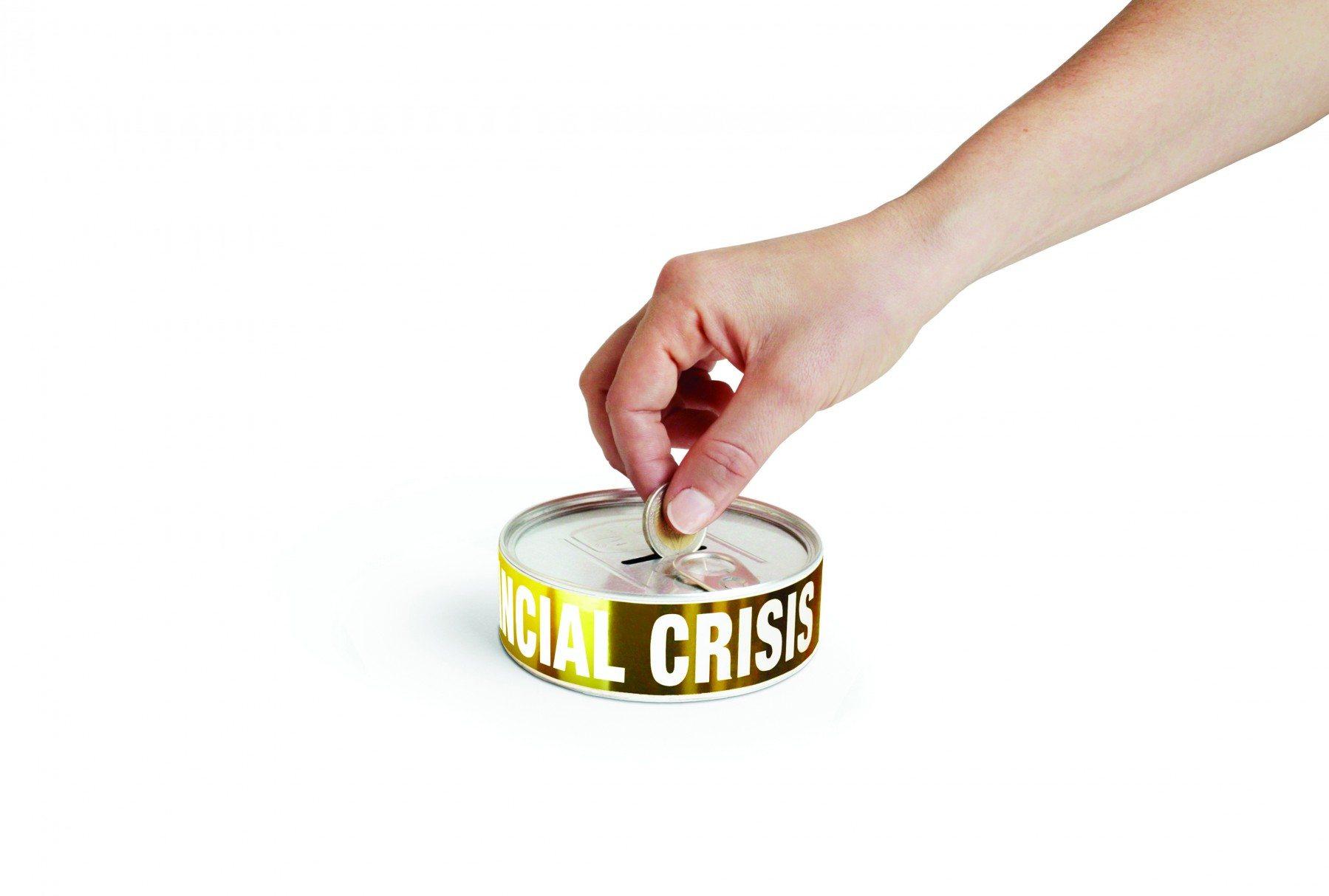 Spaarpot ''financiële crisis''