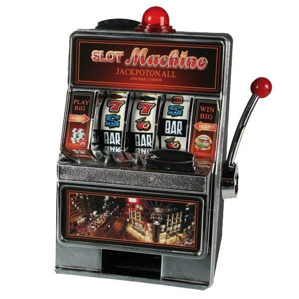 Spelautomaat en spaarpot in één