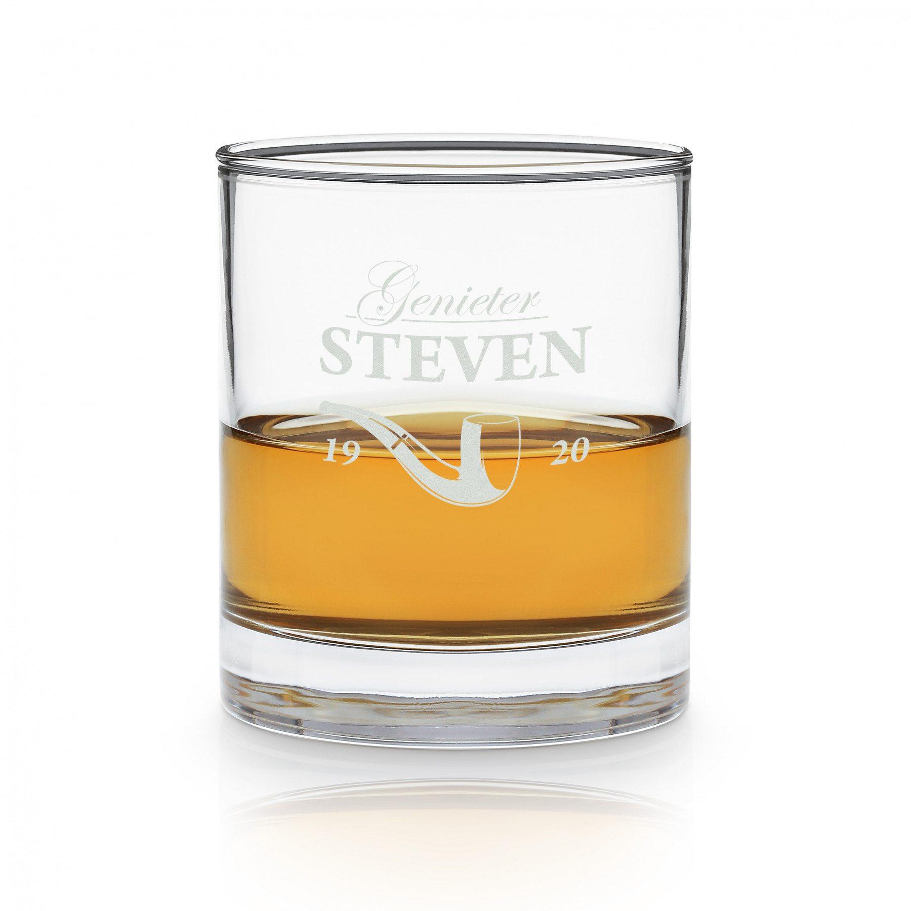 Whiskyglas met pijpgravure