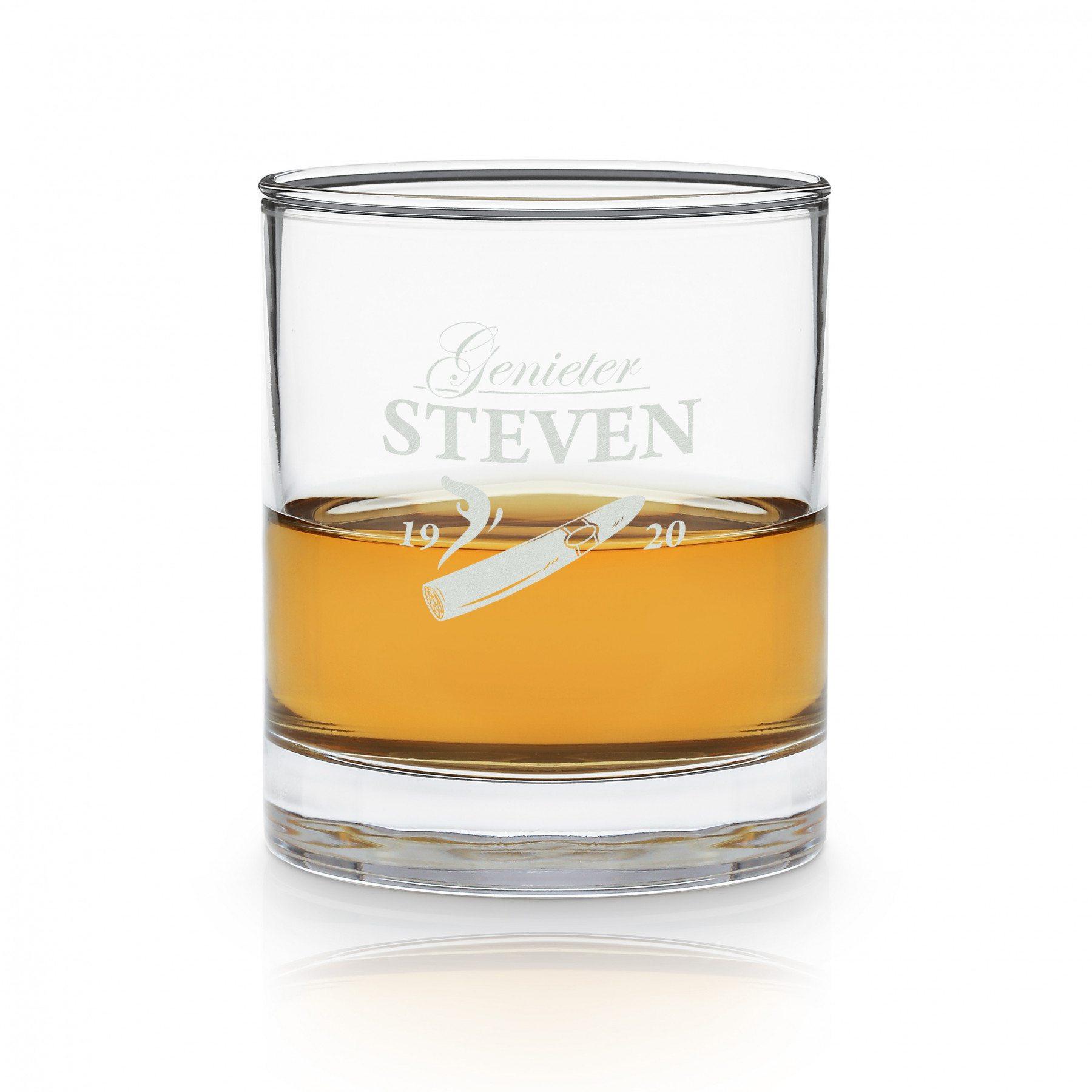 Whiskyglas met sigaargravure