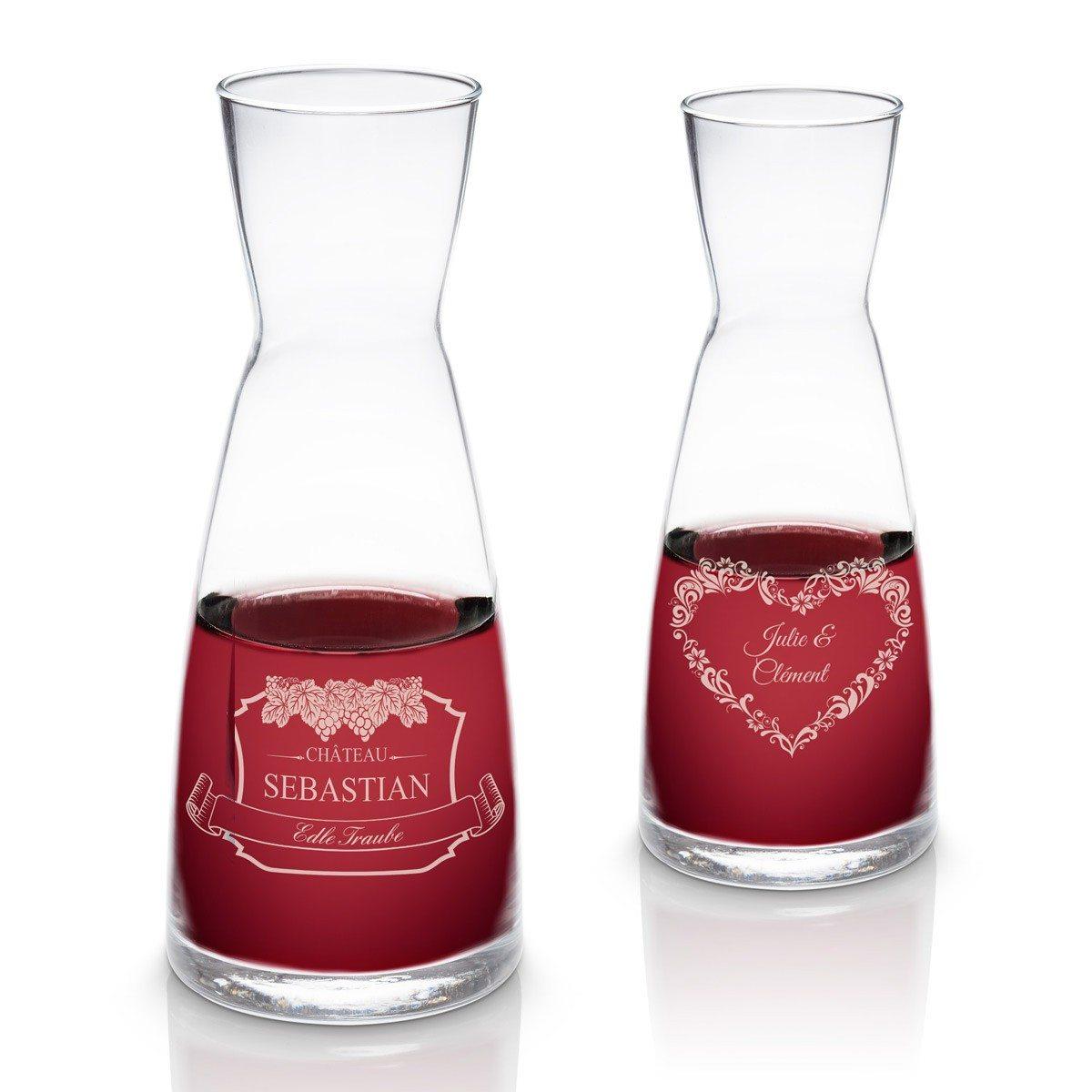 Wijnkaraf met gravuur