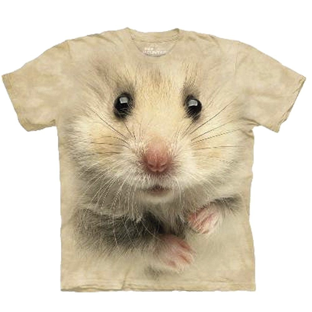 Big Face dieren T-shirts - Hamster