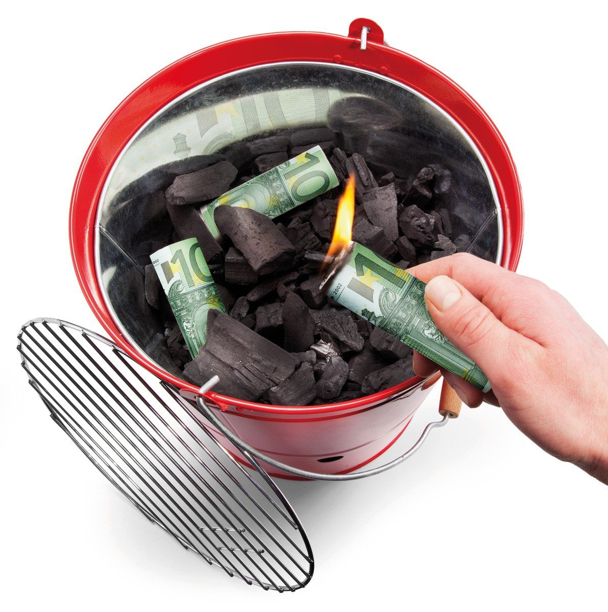 Burn your money - BBQ briquet