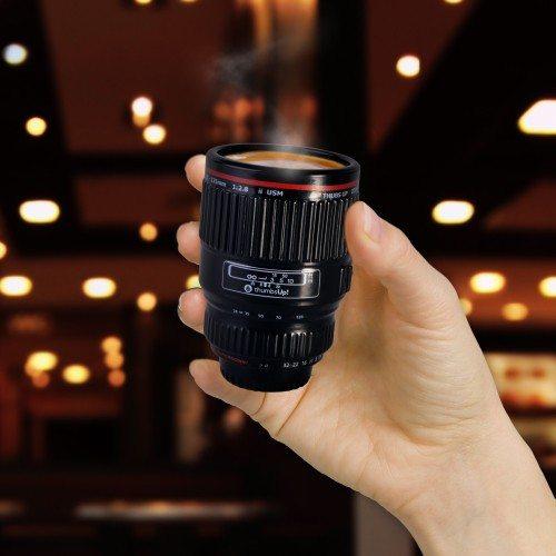 "Espressokopje ""camera objectief''"
