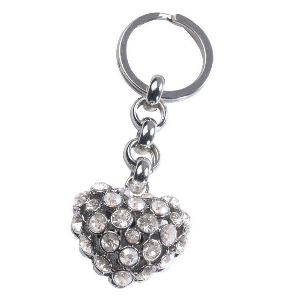 Glamour Heart – sleutelhanger zilver