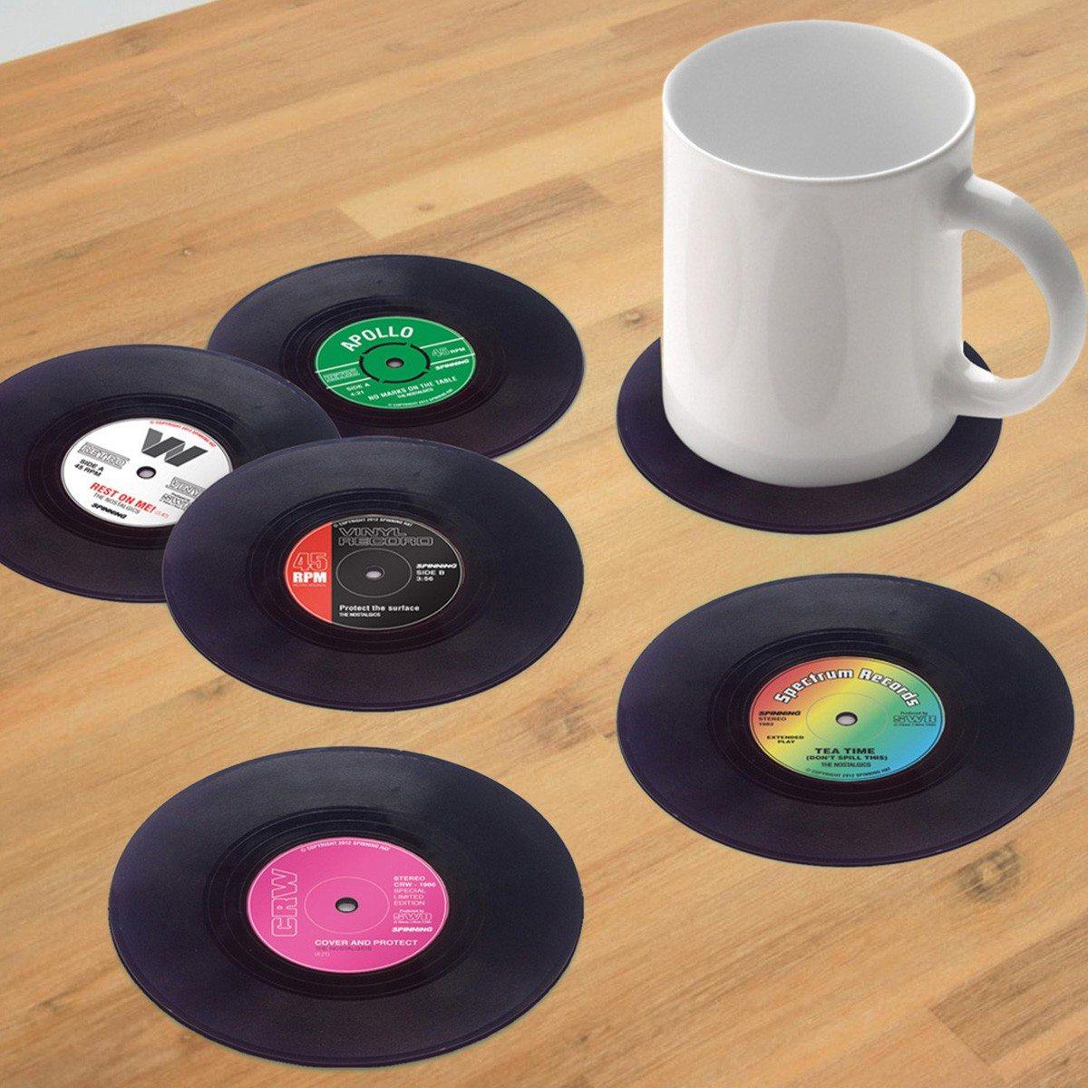 Grammofoonplaat onderzetters