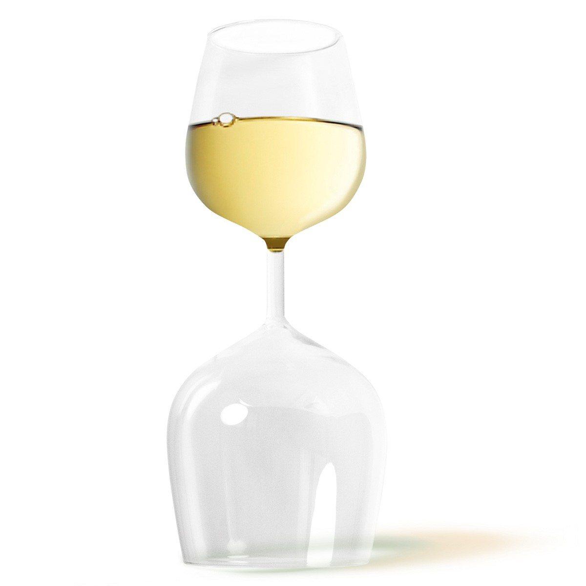 """Het praktische wijnglas """"rood & wit"""""""