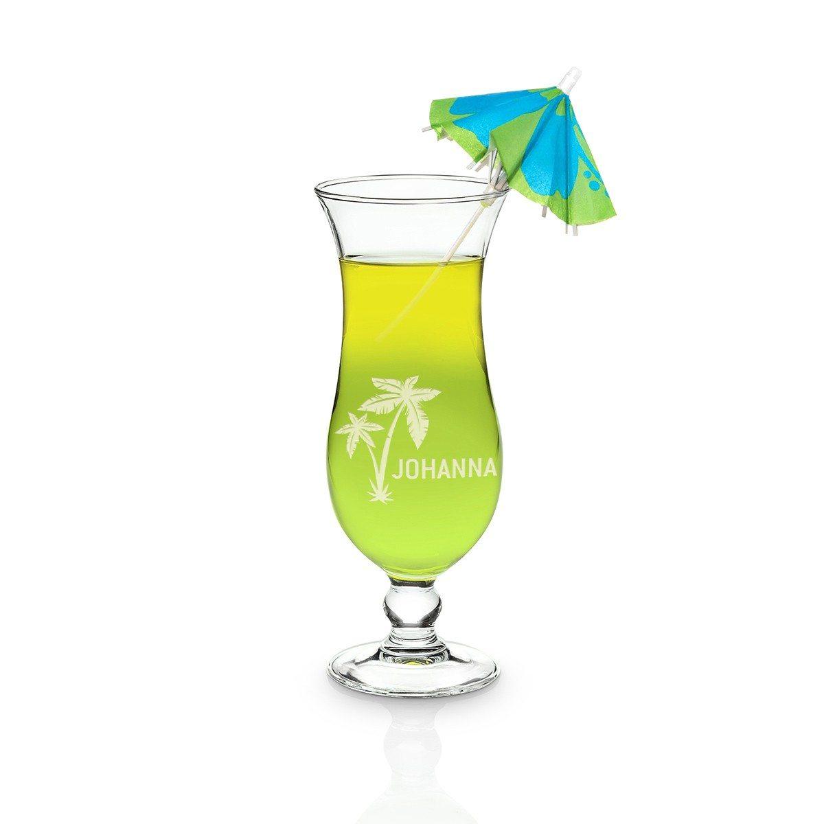 Hurricane cocktailglas met gravure