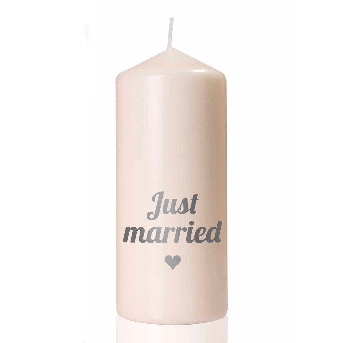 "Huwelijkskaars ""Just Married"""