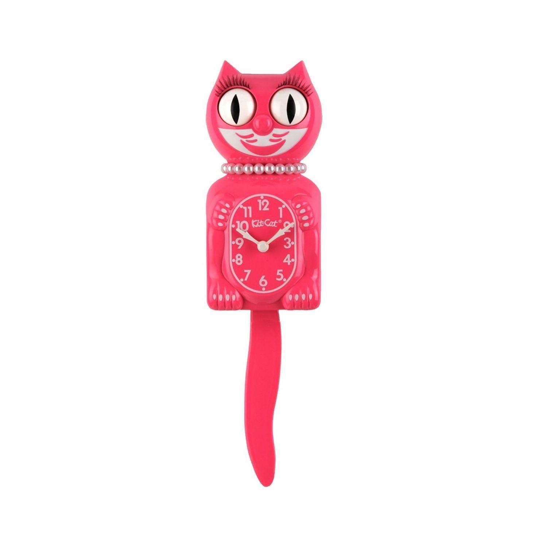 Kit Cat Clock - Die Katzenuhr-Lady - Pink