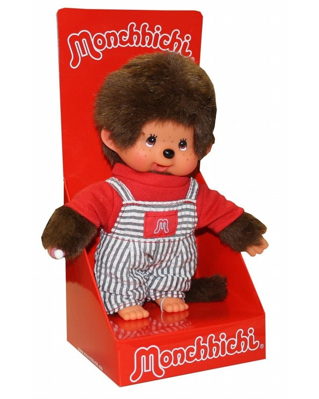 Monchhichi pop – jongen met tuinbroek