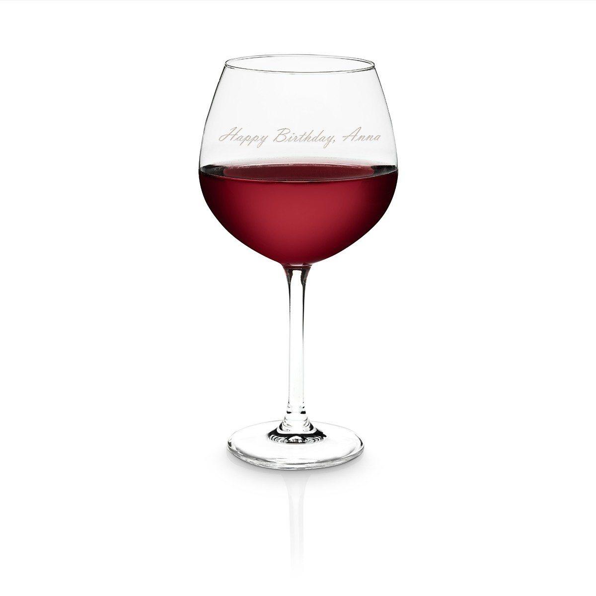 Personaliseerbare rode wijnkelk van Schott Zwiesel