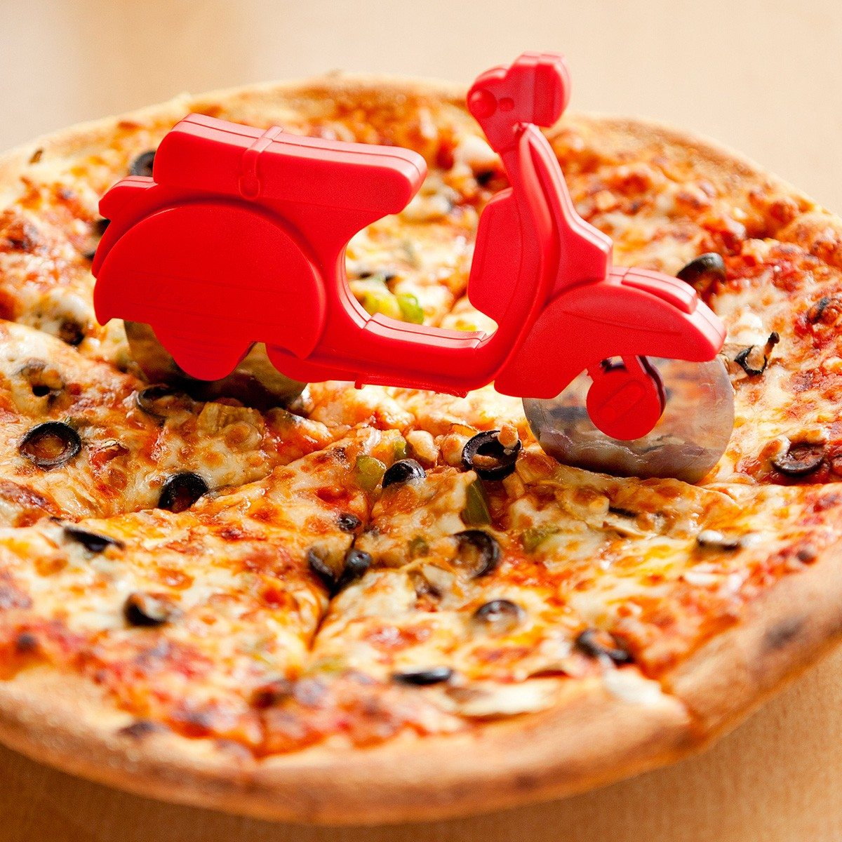 Pizza scooter pizzasnijder