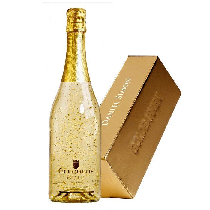 Extravaganter Goldsekt - Gold-Box