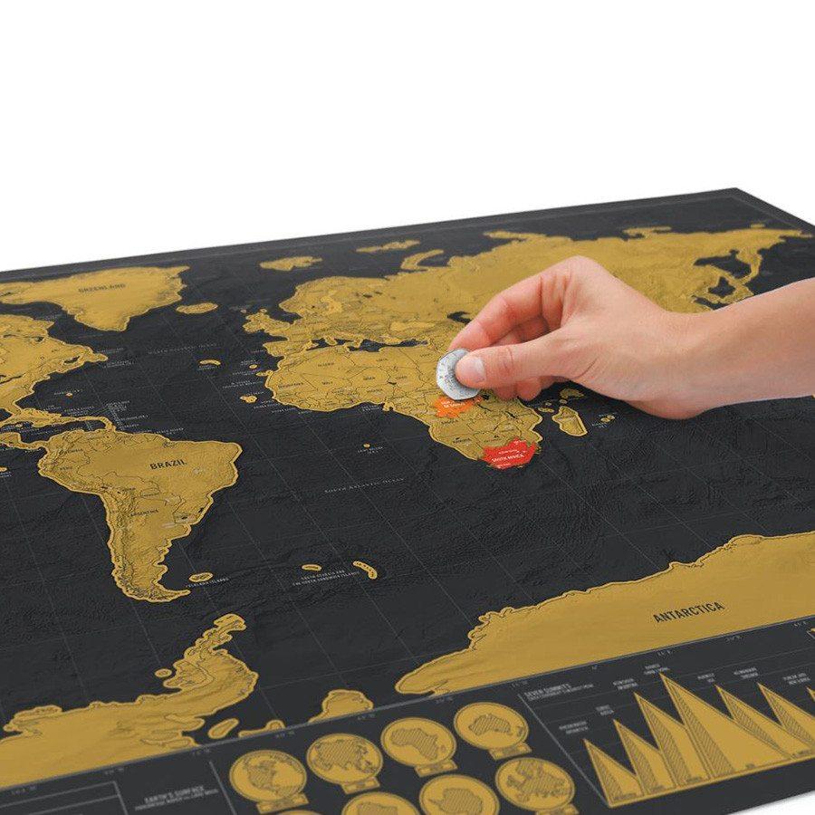 Kras wereldkaart – deluxe editie