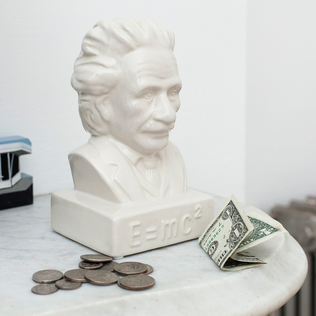 Spaarpot Einstein E = mc²