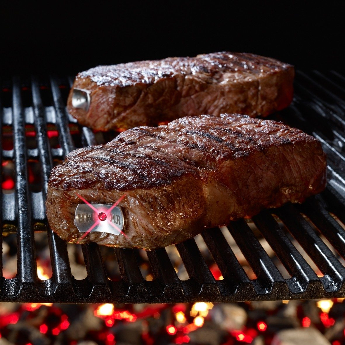 SteakChamp: vleesthermometer set van 2, medium + medium rare