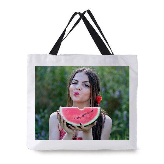 Strandtasche mit persönlichem Foto