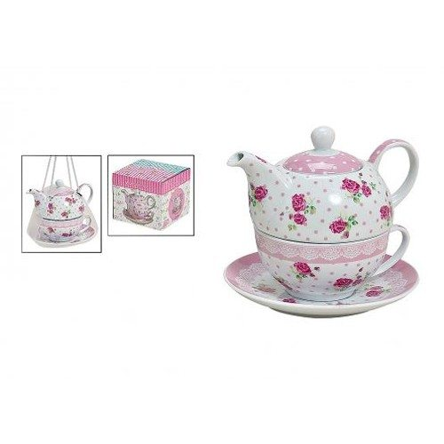 tea for one theepot met kopje 39 39 rozen 39 39. Black Bedroom Furniture Sets. Home Design Ideas
