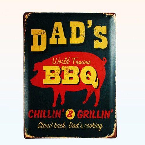 Vintage poster dad's BBQ