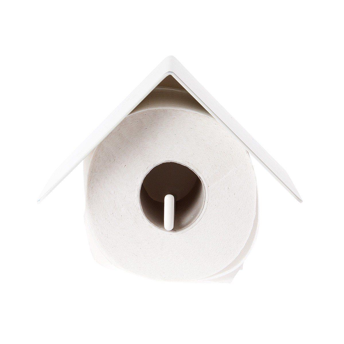 Vogelhuisje toiletpapier en boekenhouder