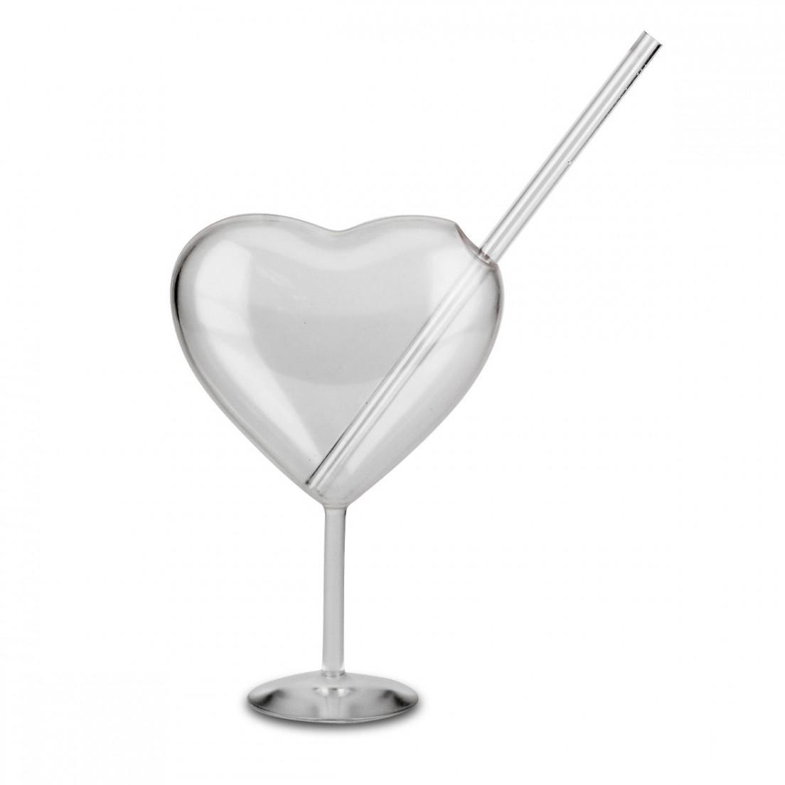 Herzilein Glas mit Strohhalm | Smyla.nl